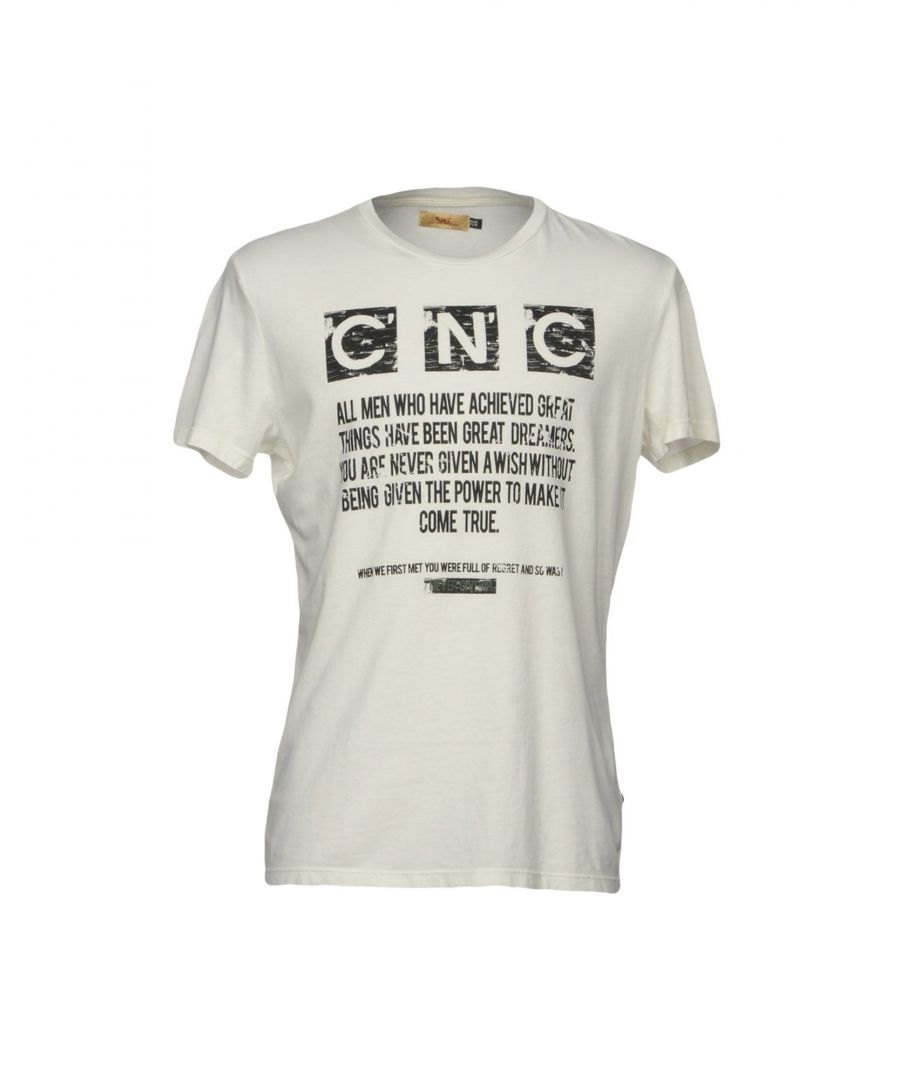 Image for C'N'C' Costume National White Print Cotton T-Shirt