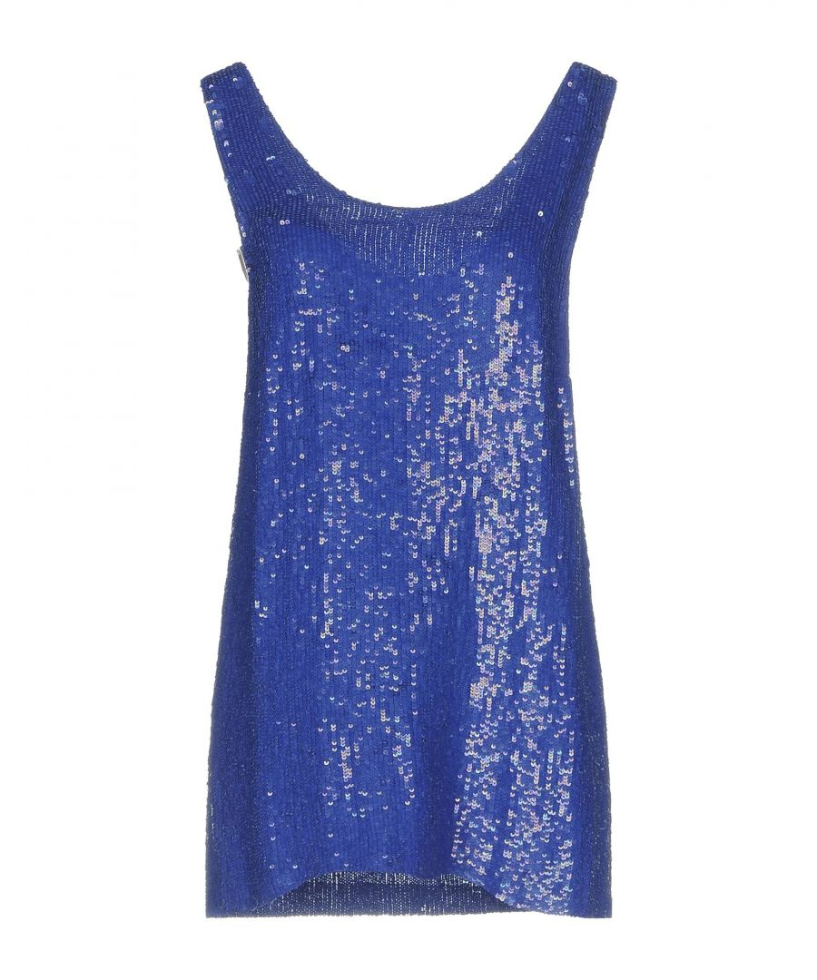Image for P.A.R.O.S.H. Bright Blue Sequin Tank