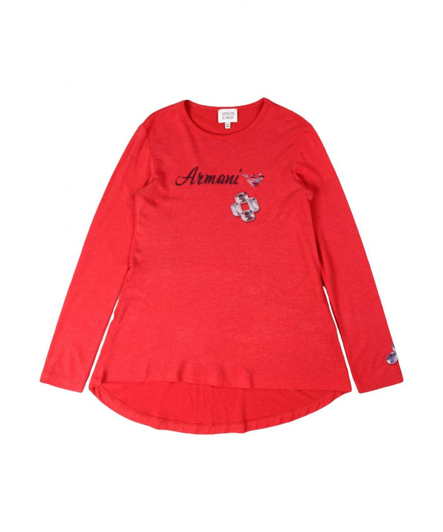 Image for TOPWEAR Armani Junior Red Girl Viscose