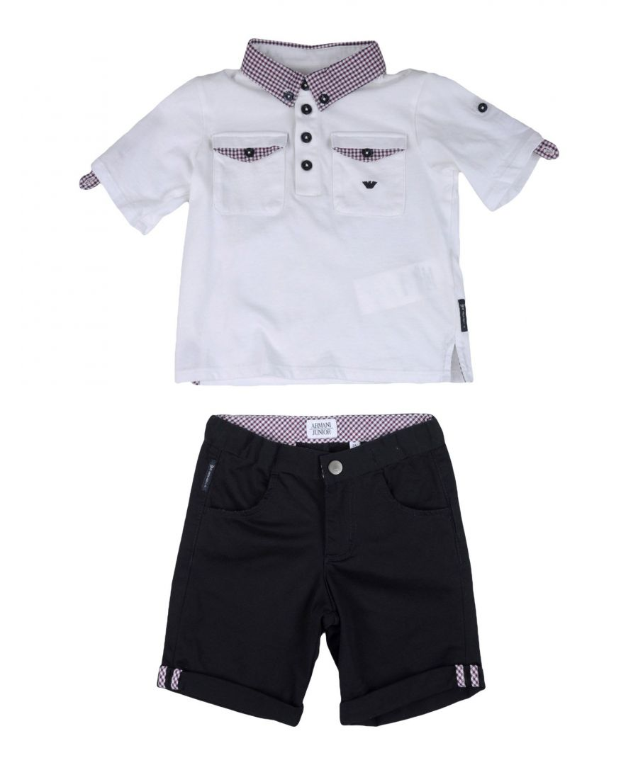 Image for BODYSUITS & SETS Armani Junior White Boy Cotton