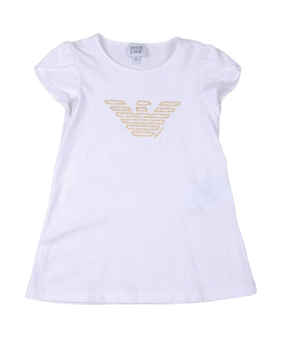 Image for TOPWEAR Armani Junior White Girl Cotton
