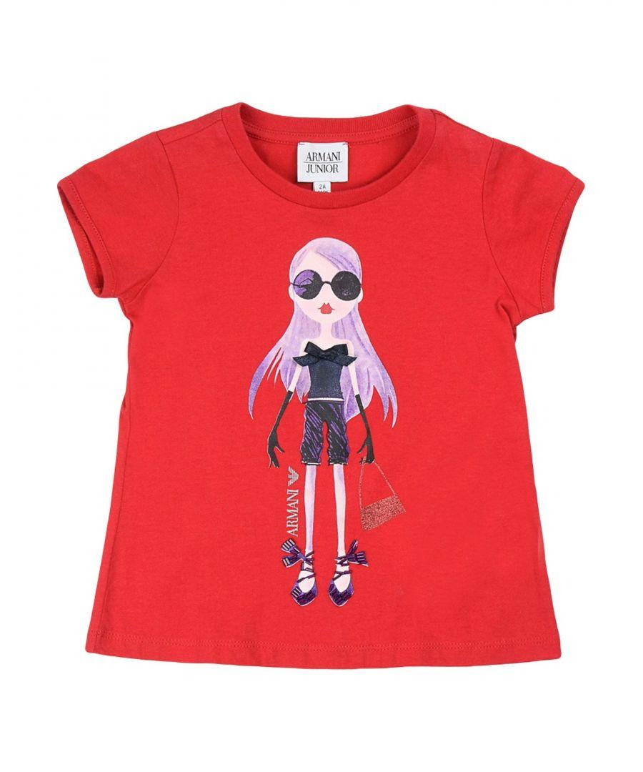 Image for TOPWEAR Armani Junior Red Girl Cotton
