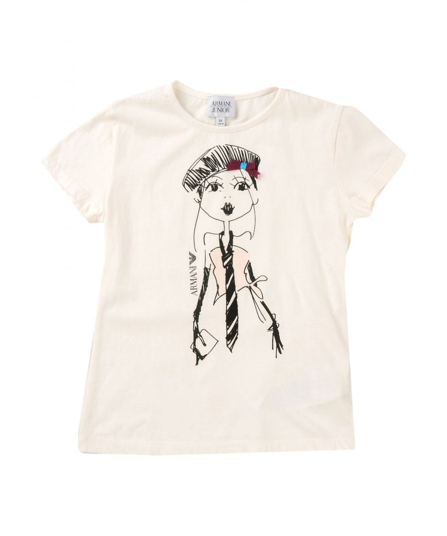 Image for TOPWEAR Armani Junior Ivory Girl Cotton