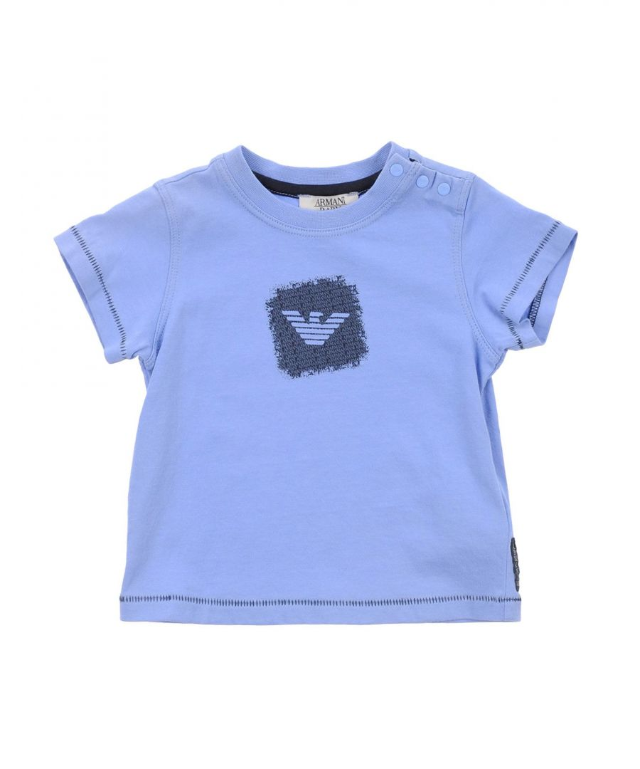 Image for TOPWEAR Armani Junior Sky blue Boy Cotton
