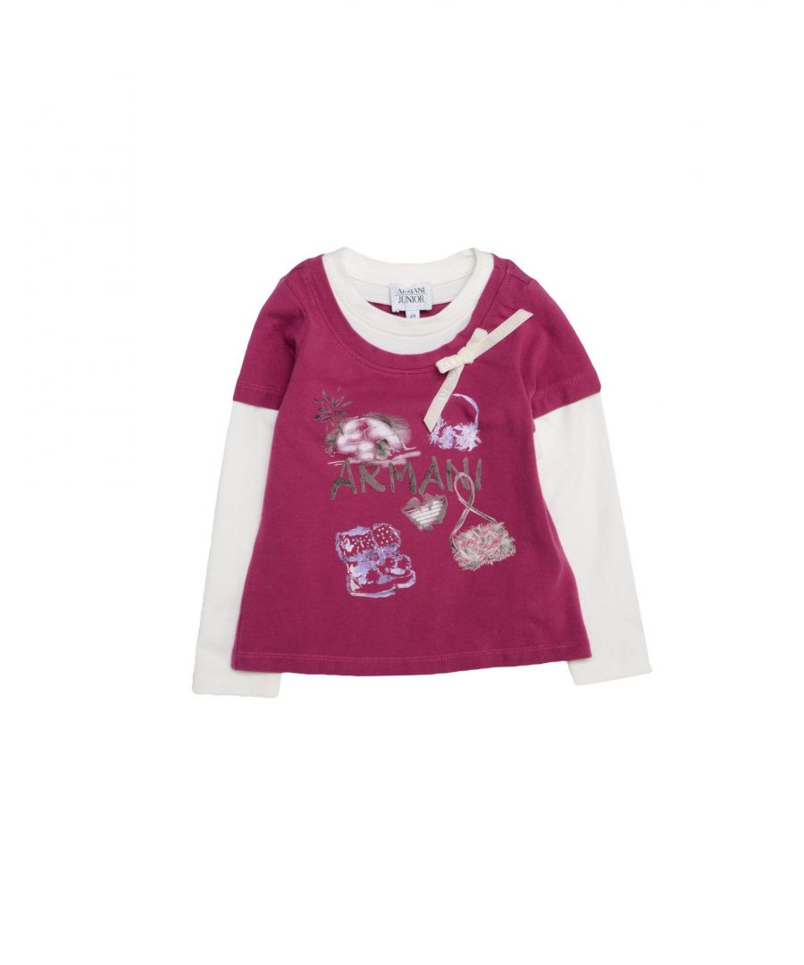 Image for TOPWEAR Armani Junior Grey Girl Cotton