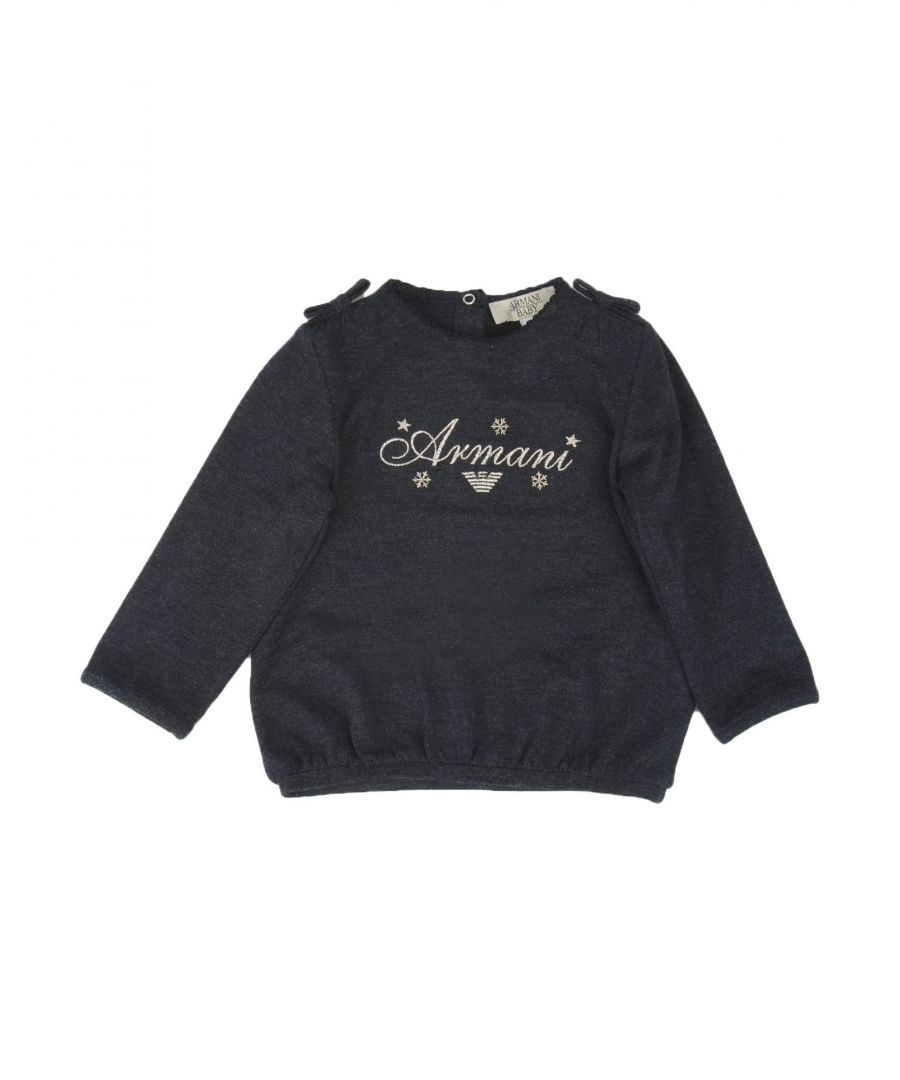Image for Armani Junior Steel Grey Girls Long Sleeve T-Shirt