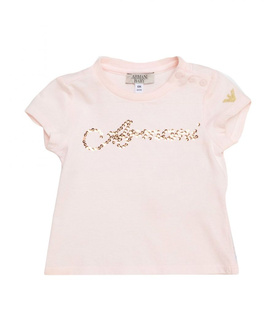 Image for Armani Junior Light pink Girl Cotton T-Shirt