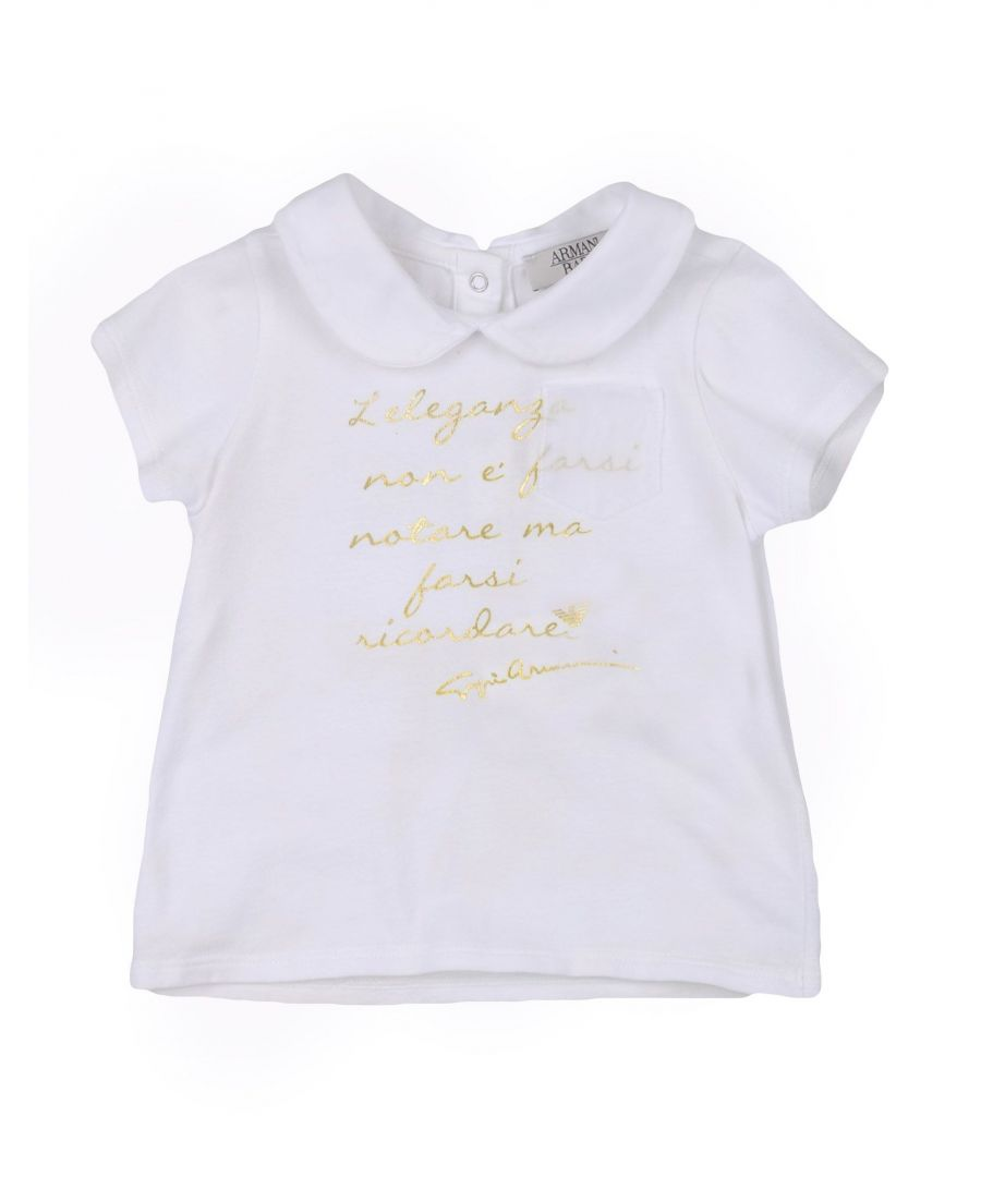 Image for TOPWEAR Armani Junior White Girl Cotton
