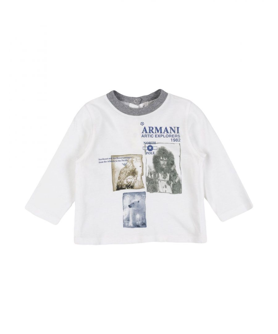 Image for Armani Junior White Boy Cotton LS T-Shirt