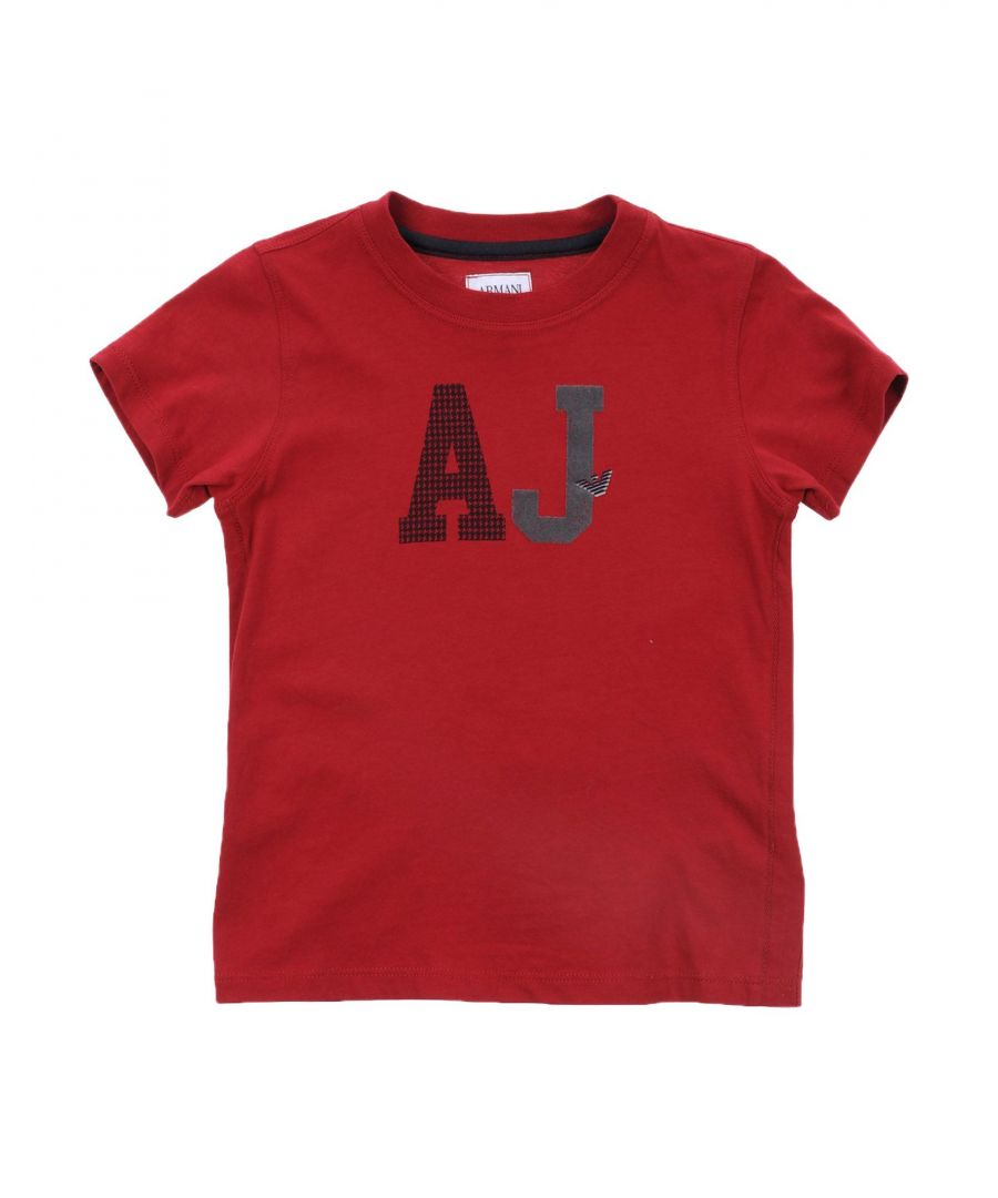 Image for TOPWEAR Armani Junior Maroon Boy Cotton