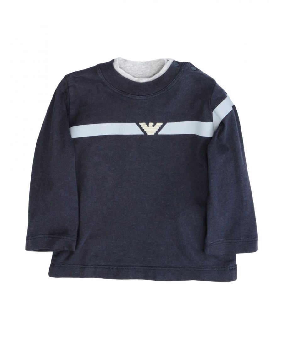 Image for TOPWEAR Armani Junior Dark blue Boy Cotton