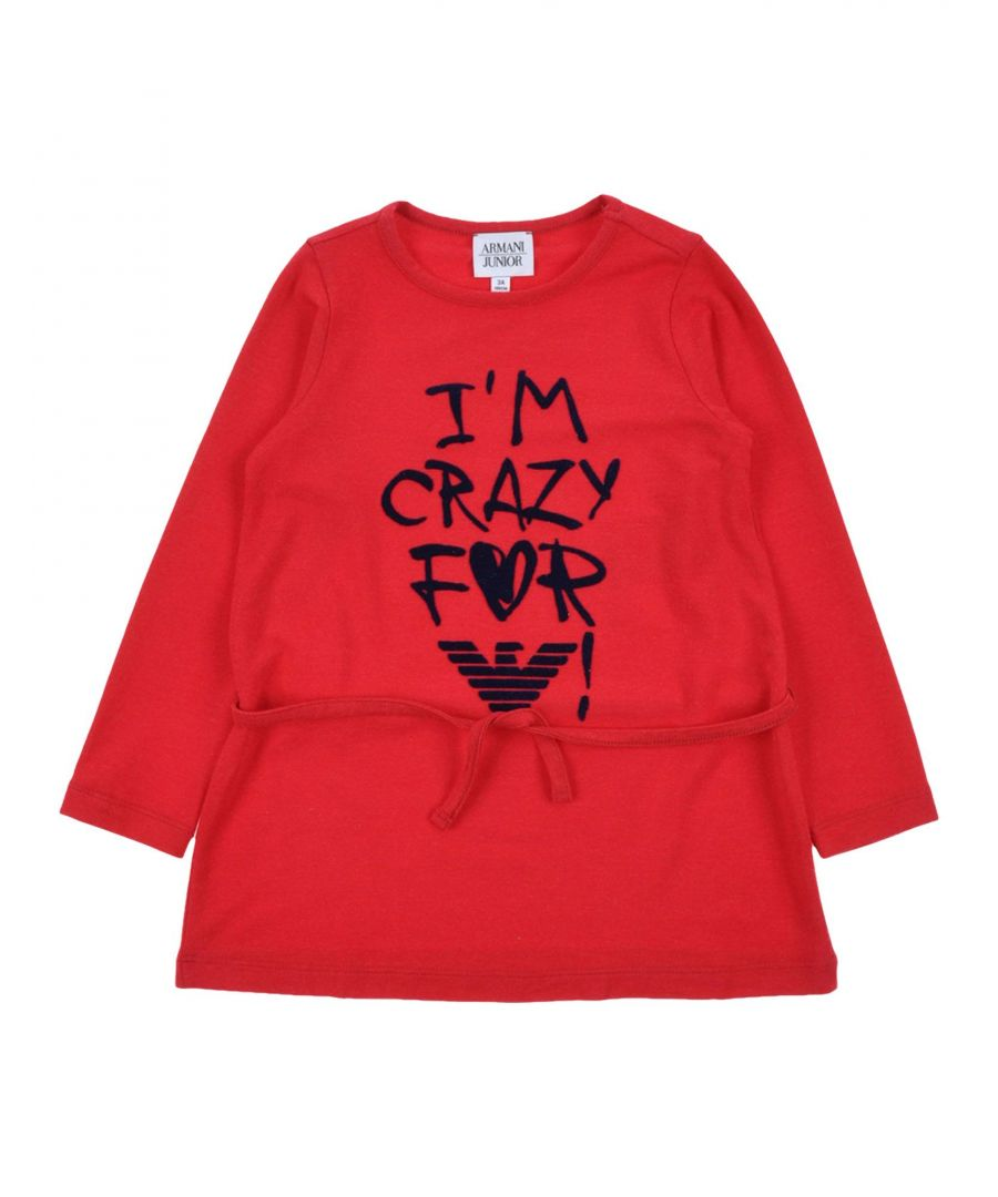 Image for Armani Junior Red Girls T-Shirt