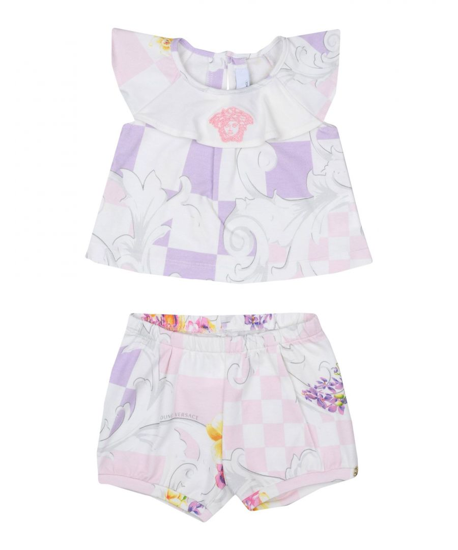 Image for Versace Young Ivory Girl Cotton Set