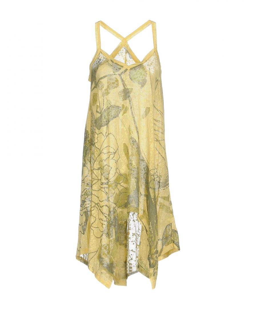 Image for Gas Yellow Print Cotton Dress