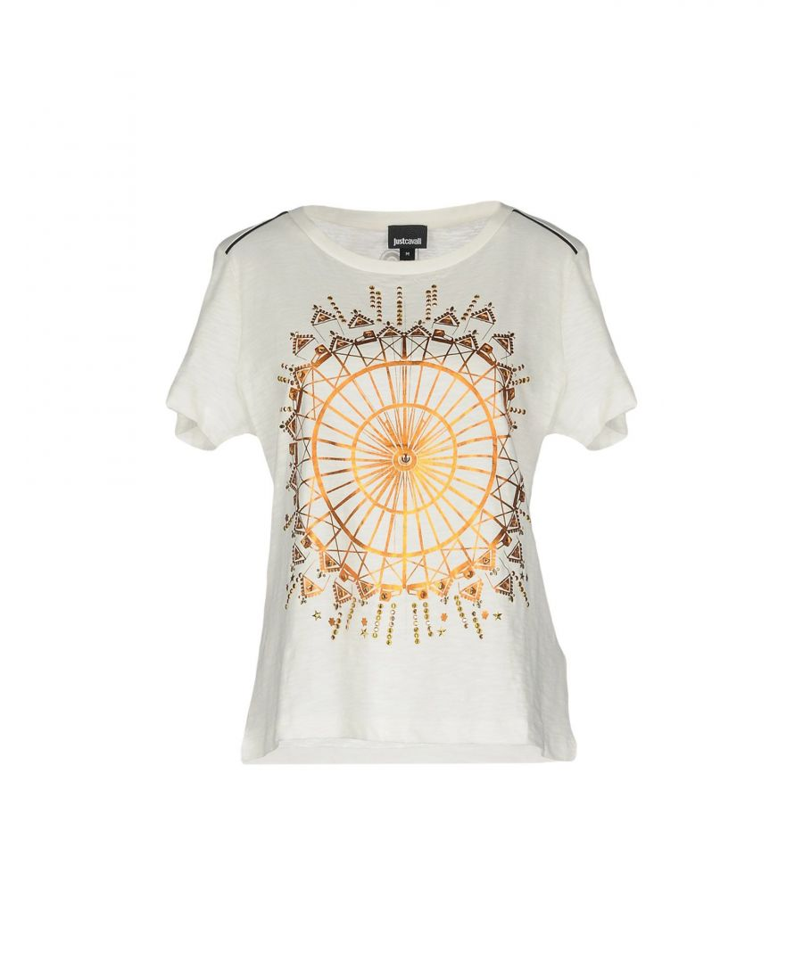 Image for Just Cavalli White Print Cotton T-Shirt