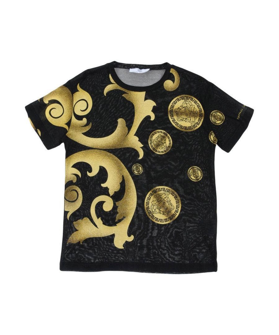 Image for TOPWEAR Versace Young Black Boy Cotton
