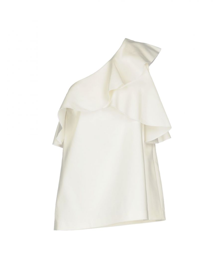 Image for Pinko White Cotton Asymmetrical Top