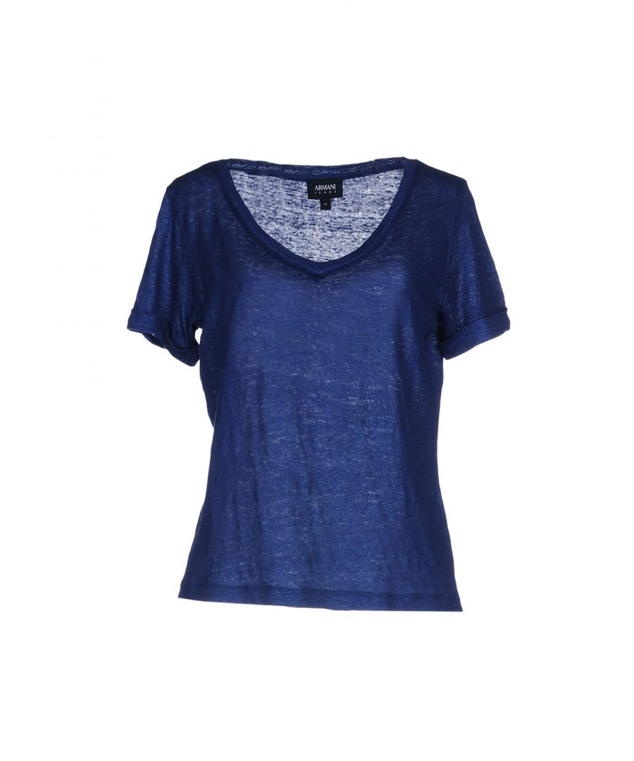 Image for Armani Jeans Blue Linen T-Shirt