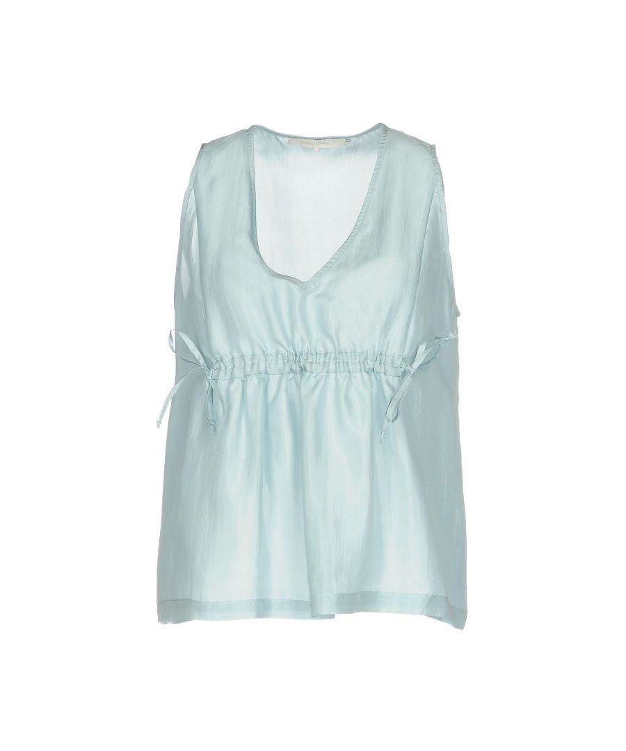 Image for L' Autre Chose Sky blue Silk Tops