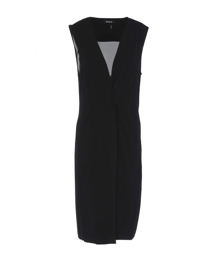 Image for DKNY Black Crepe Sleeveless Top