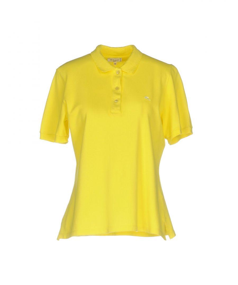 Image for Etro Yellow Cotton Short Sleeve Polo Shirt