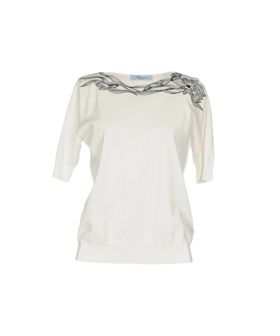Image for Blumarine White Short Sleeve T-Shirt