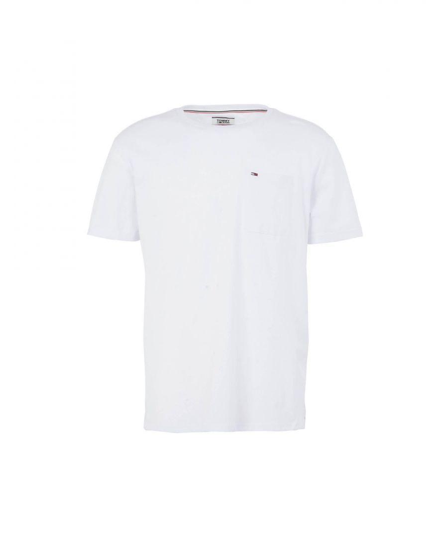 Image for Tommy Jeans White Cotton T-Shirt