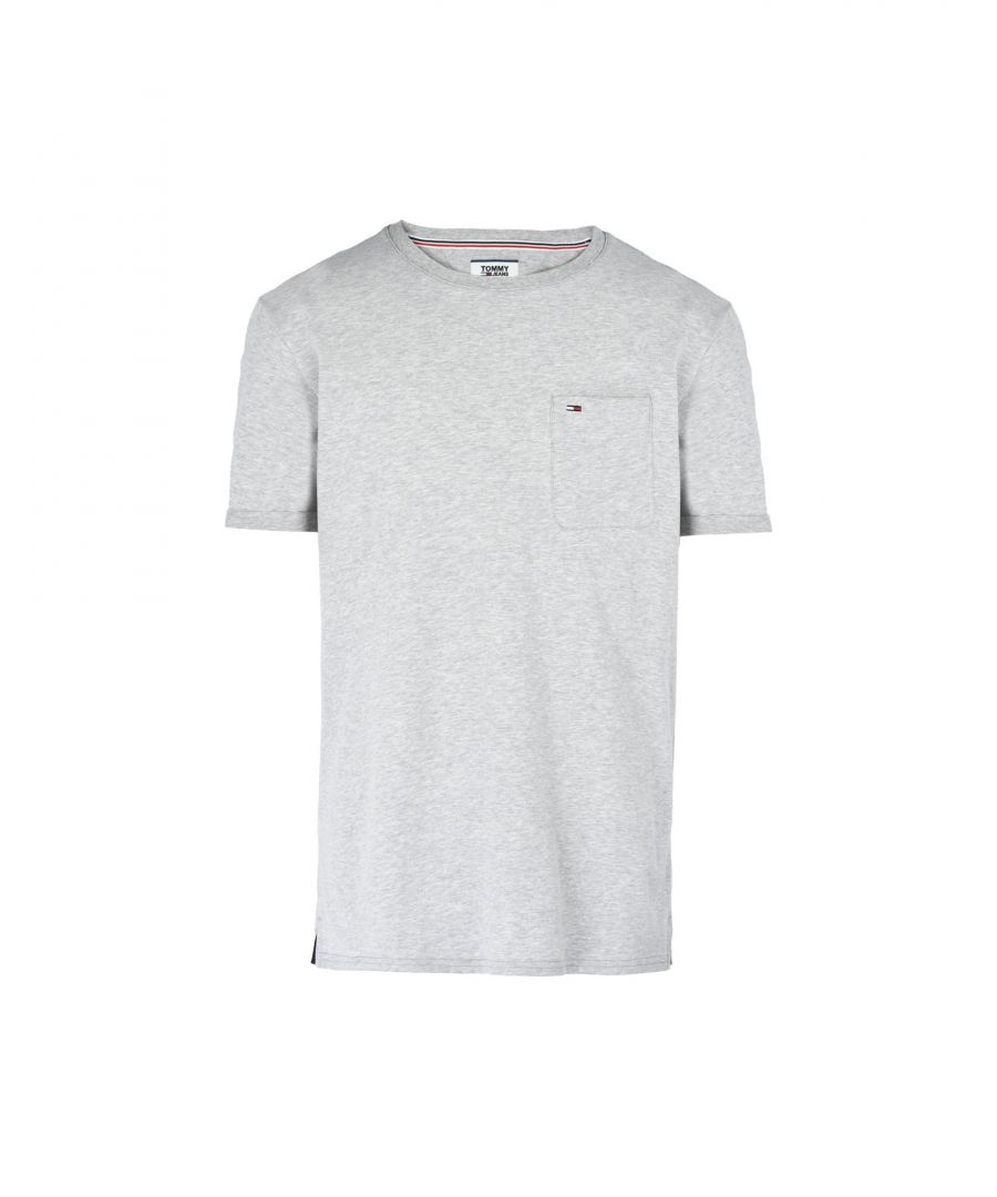 Image for Tommy Jeans Light Grey Cotton T-Shirt