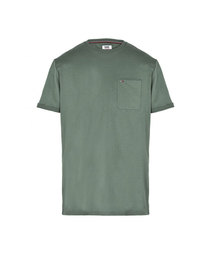 Image for Tommy Jeans Green Cotton T-Shirt