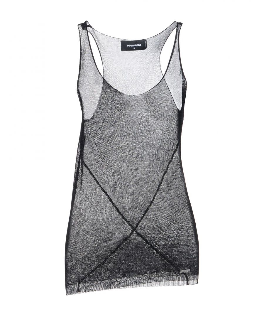 Image for Dsquared2 Black Lightweight Knit Tank
