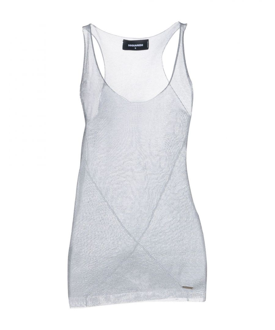 Image for Dsquared2 Light Grey Knit Lame Tank
