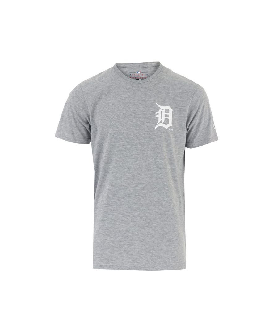 Image for Men's New Era Far East Detroit Tigers T-Shirt in Light Grey