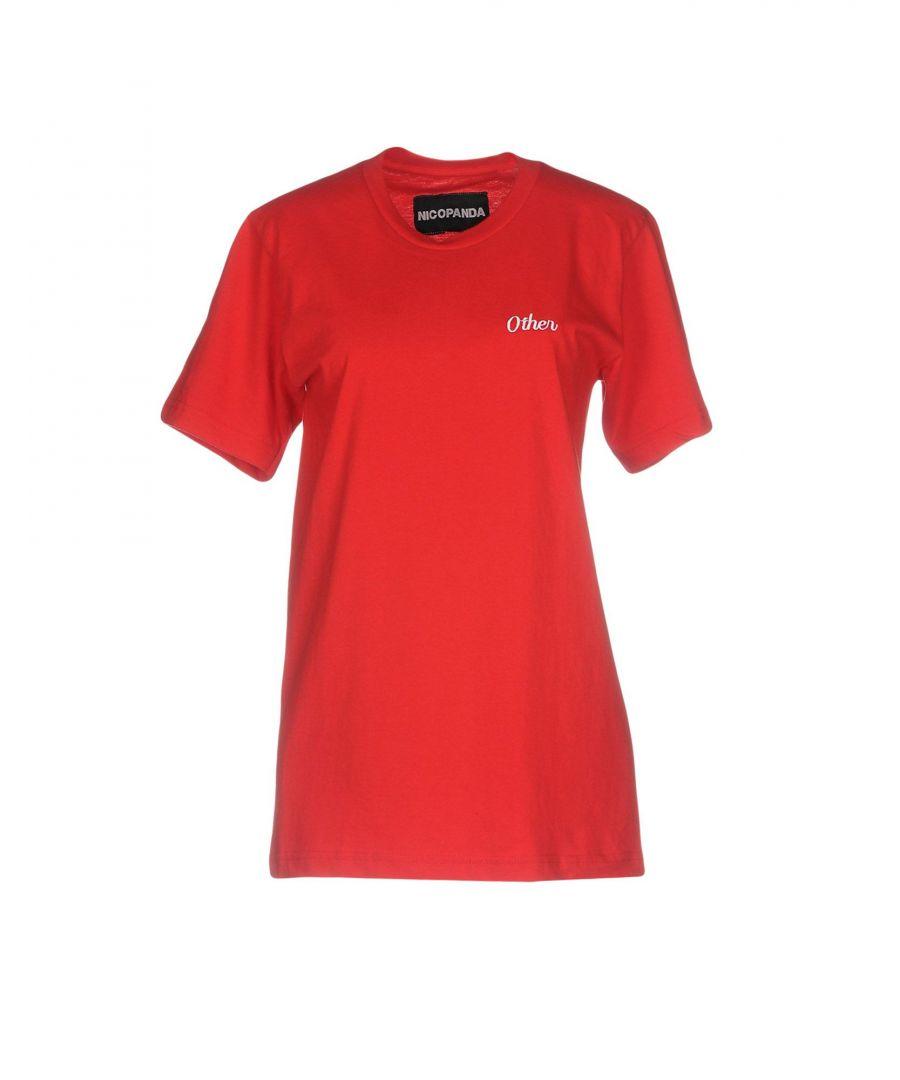 Image for Nicopanda Red Cotton T-Shirt