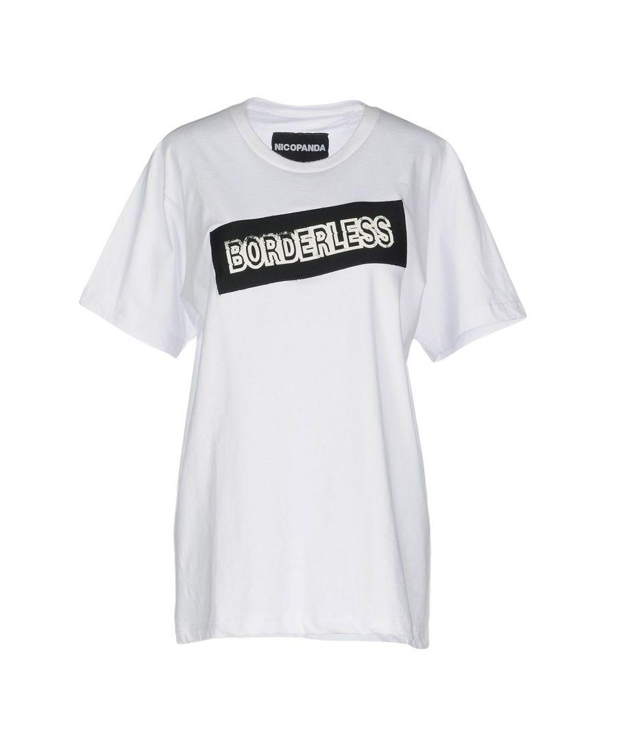 Image for Nicopanda White Cotton Print T-Shirt