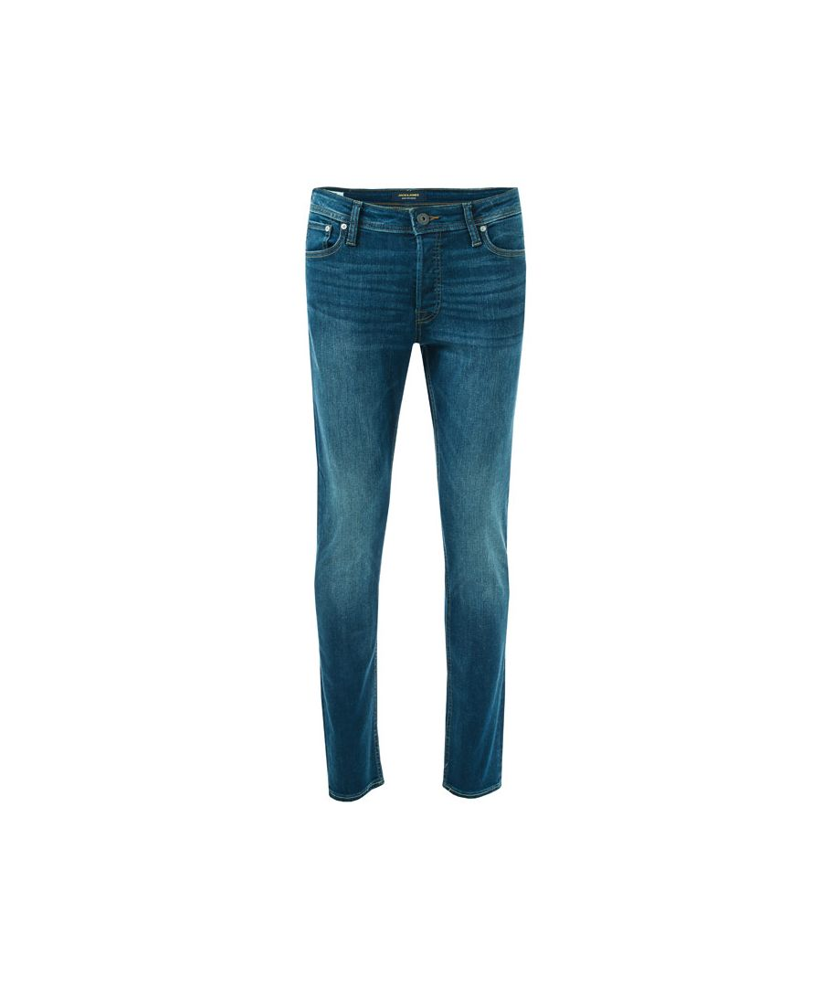 Image for Men's Jack Jones Glenn 431 Slim Fit Jeans in Navy