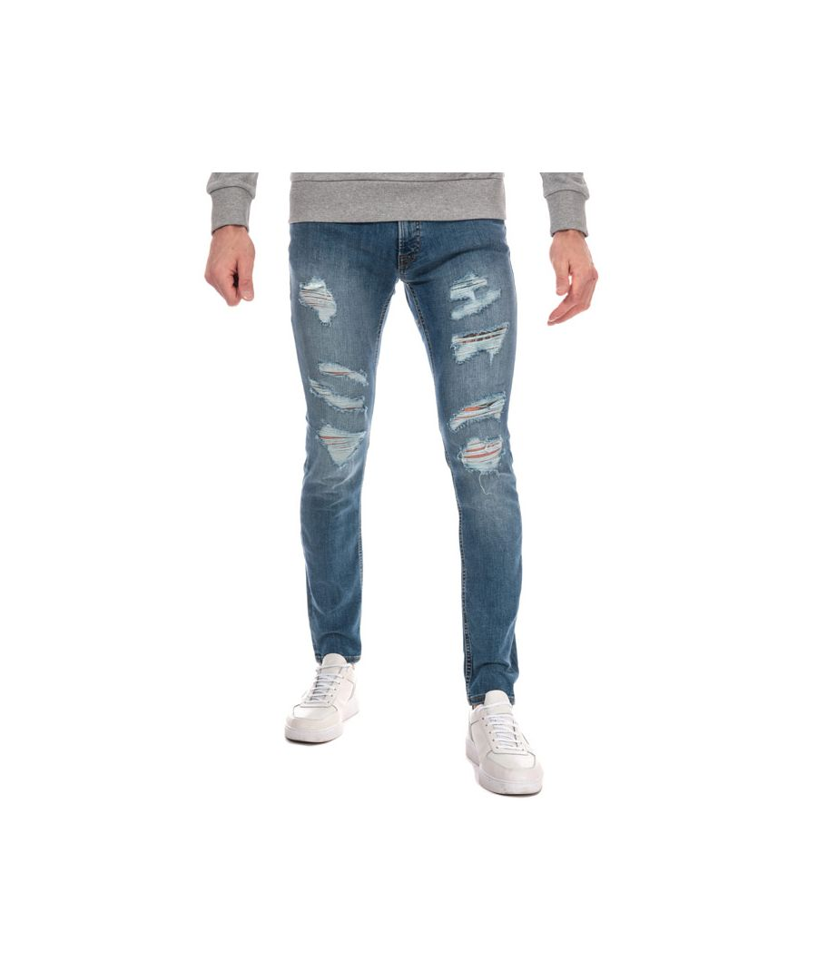 Image for Men's Jack Jones Liam 506 Ripped Skinny Fit Jean in Blue