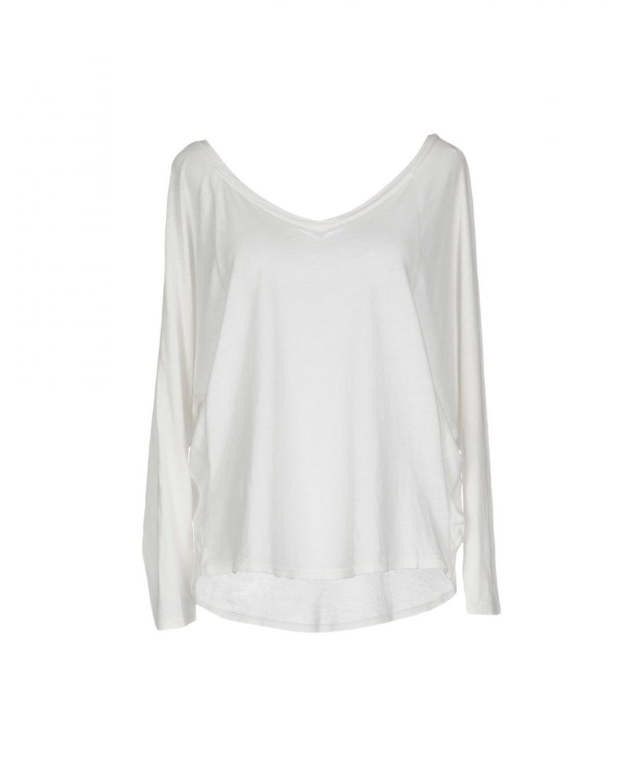 Image for Splendid White Cotton Long Sleeve T-Shirt