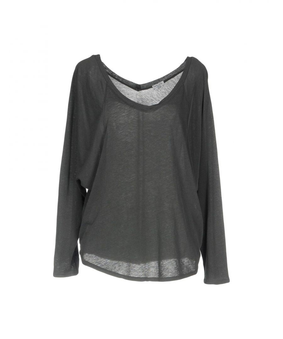 Image for Splendid Grey Cotton Long Sleeve T-Shirt