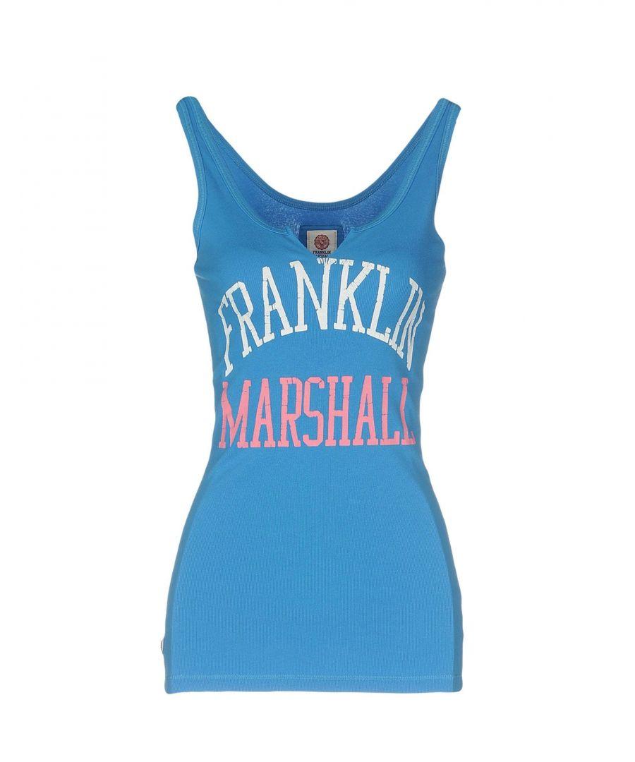 Image for Franklin & Marshall Blue Logo Cotton Vest Top