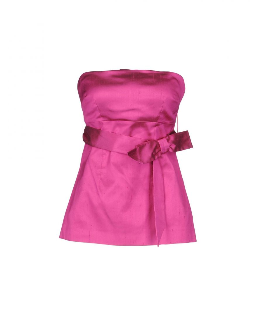 Image for P.A.R.O.S.H. Fuchsia Silk Strapless Top