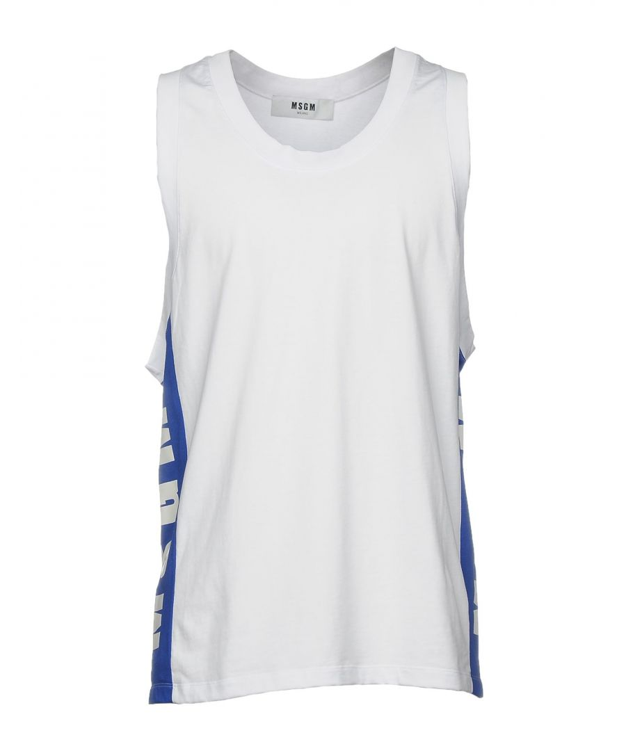 Image for MSGM White Cotton Tank