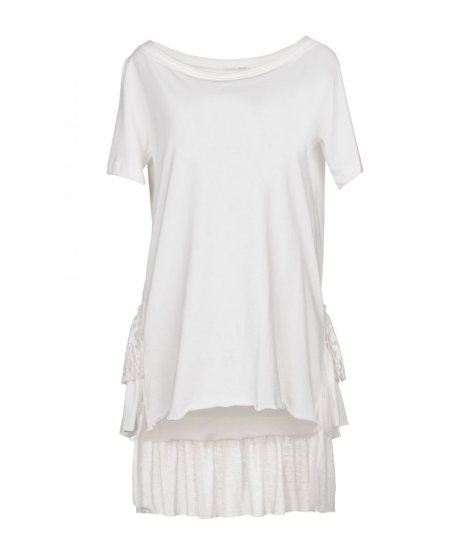 Image for Bettib. White Cotton Lace T-Shirt