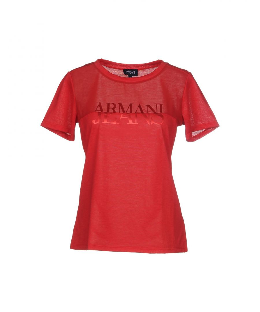 Image for Armani Jeans Brick Red Logo T-Shirt