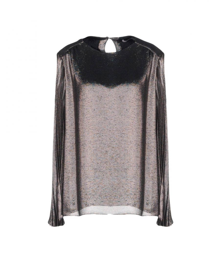 Image for Christopher Kane Lead Silk Lame Blouse