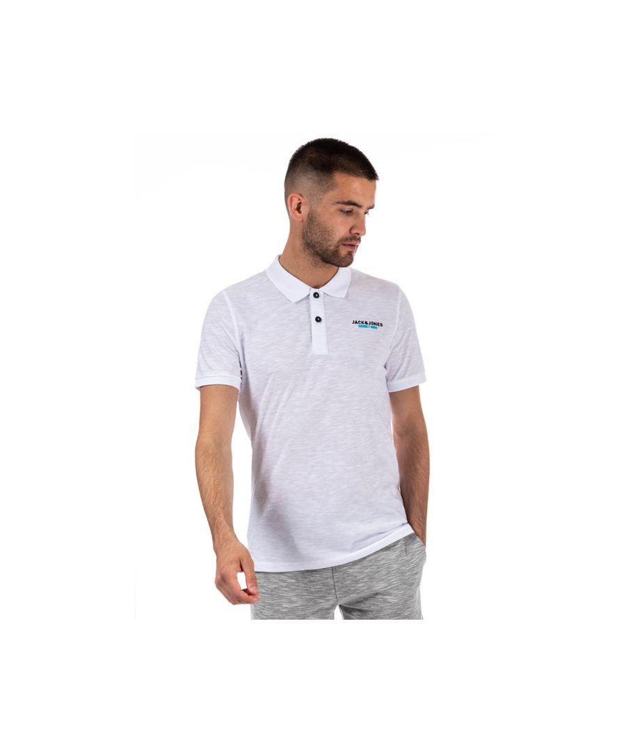 Image for Men's Jack Jones Scales Polo Shirt in White