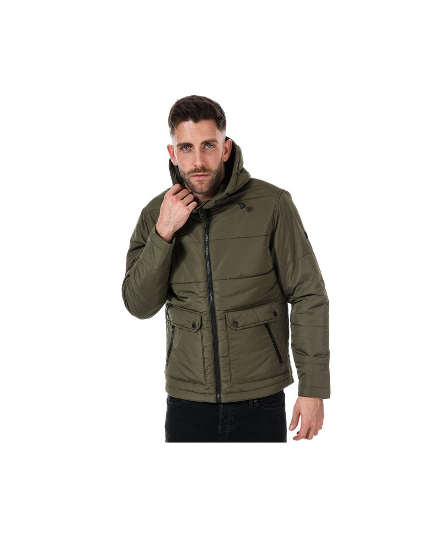 Image for Men's Jack Jones Creek Puffer Jacket in olive
