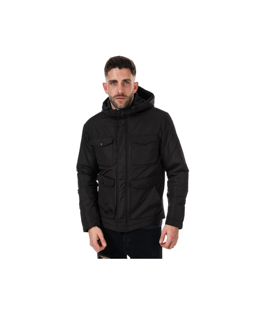 Image for Men's Jack Jones Mey Short Puffer Jacket in Black