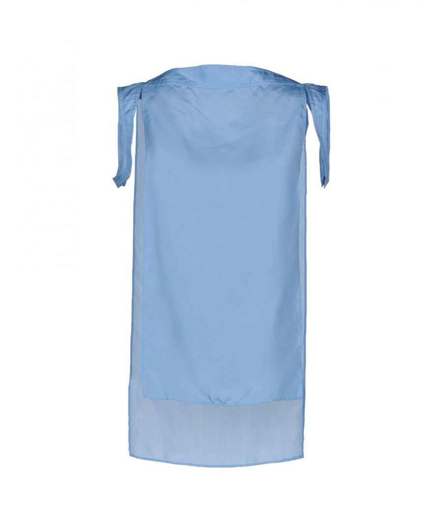 Image for Costume National Sky Blue Silk Top