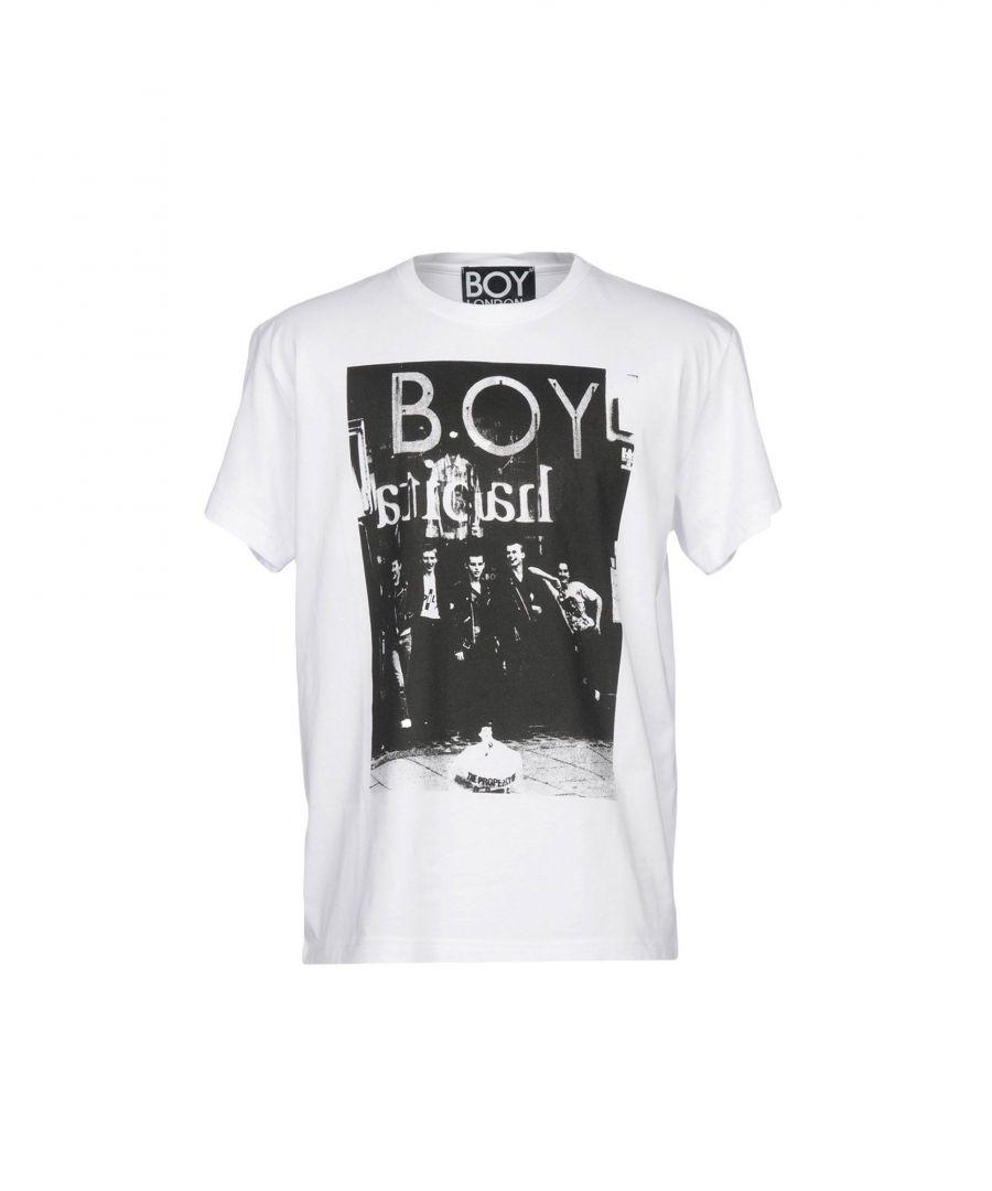 Image for Boy London White Cotton Print T-Shirt