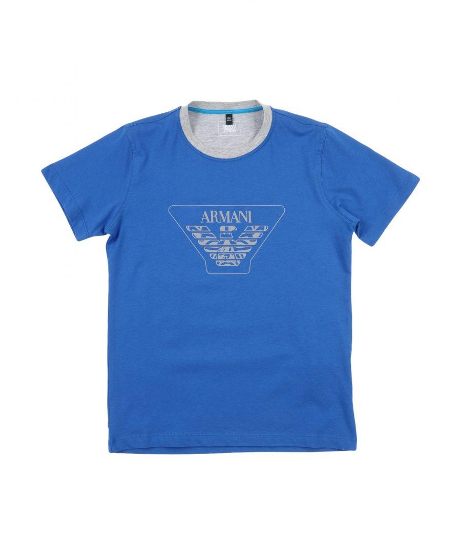 Image for TOPWEAR Armani Junior Blue Boy Cotton